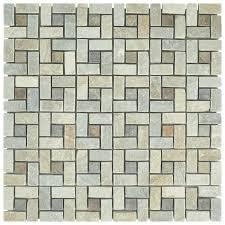 Peak Natural Stone Mosaic Tile In Gray