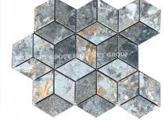 Vietnam Cheap 3D Hexagon Stone Tile Mosaic