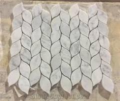 Leaf Design Natural Stone White Marble Mosaic