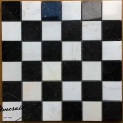 Stone matte black hexagon marble mosaic tile