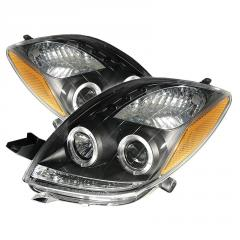 Car headlights and  warning lights