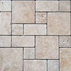 Classico Pattern Tumbled Travertine Mosaic