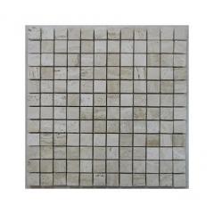 Silk Filled Polished Travertine Mosaic