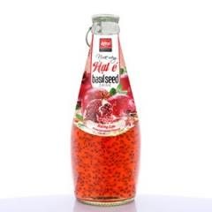 Basil Seed Drink With Pomegante Flavor