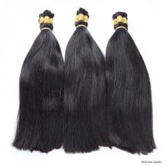 Unprocessed virgin human hair bundles 100% Chinese