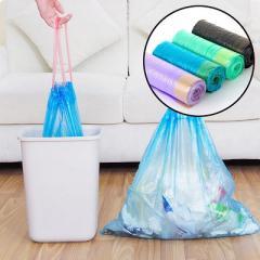 Drawstring garbage plastic bag in various sizes