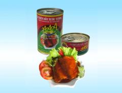 Canned fish fried in oil