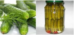 Canned cucumber