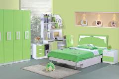 Bộ giường ngủ xanh lá cây