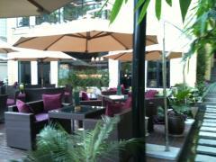 Bàn ghế nhựa giả mây cho khách sạn, resort