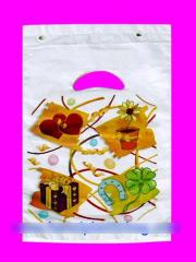 Polypropylene bags with logo and sticky tape