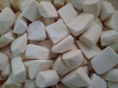 Frozen white Yam cubes