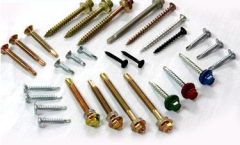 Colored tapping screws