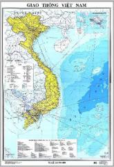 Bản đồ giao thông Việt Nam 2 mảnh