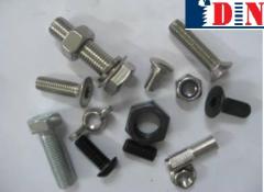Metal fasteners for scaffoldings