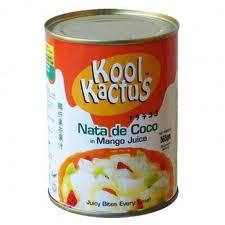 Canned nata de coco