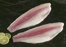 Light skinned Pangasius fillet