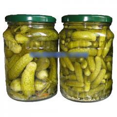 Pickled cucumber in glass jar 370ml, 540ml, 720ml,