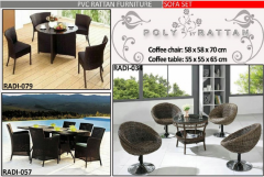 Rattan coffee and table outdoor furniture