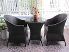 Armchairs wicker with awning