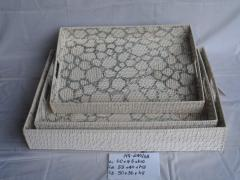 Braided trays