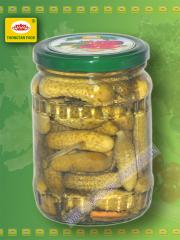 Pickled salted cucumbers