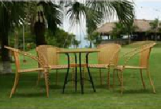 Rattan square chairs