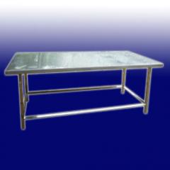 Tables for production made of stainless steel