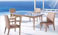 Rattan out door furniture - coffee set