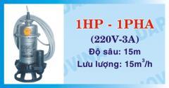 Bơm chìm hút chất thải DAPHOVINA 1HP-1FA