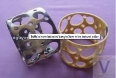 Buffalo horn bracelet/bangle 5cm wide. natural
