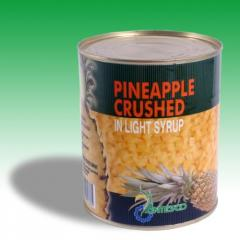 Canned pineapples