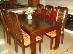 Bộ bàn ăn đẹp chất liệu gỗ Sồi