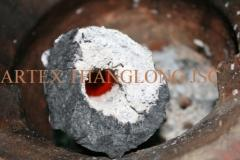 Bamboo sawdust briquette charcoal