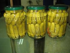 Pickled cucumber 3-6cm 1500ml