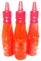 Chilli sauce in plastic bottle