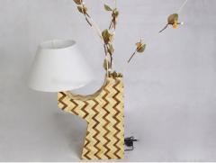 Pressed bamboo lamp