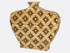 Pressed bamboo decorative vase