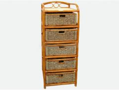 Rectangular fern 5-drawer rack