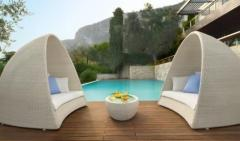 Rattan sunbed furniture