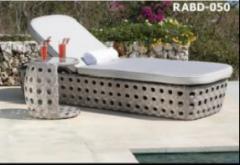 Wicker rattan Sunbed furniture