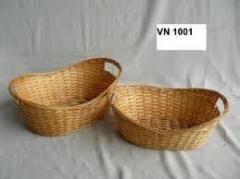 Bamboo And Rattan Basket
