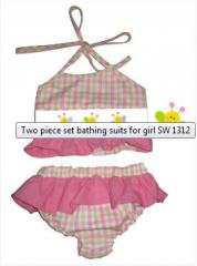 Two piece set bathing suits for girl SW 1312
