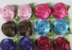 Polyester Ribbon Rose