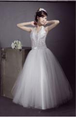 New style halter neckline wedding gown PA12-001