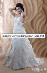 Modern ivory wedding gown PA11-064