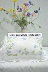Pillow case 20x26'-white satin'