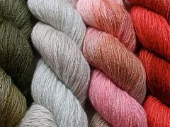 Dyed linen fibers