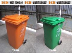 Thùng rác nhựa HDPE 120 Lнt