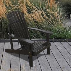 Raven Outdoor Wood Adirondack Chair With 7-Slatted